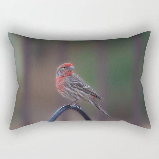 Pretty Bird - House Finch Rectangular Pillow