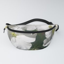 White Petunias in Sunlight Fanny Pack