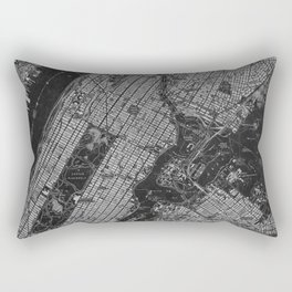 Central Park New York 1947 vintage old map for office decoration Rectangular Pillow