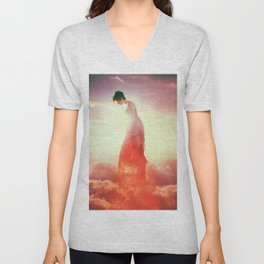 Sunset in the Clouds Unisex V-Neck