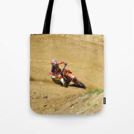 Turning Point Motocross Champion Race Tote Bag