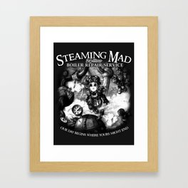 Steaming Mad Boiler Repair Framed Art Print