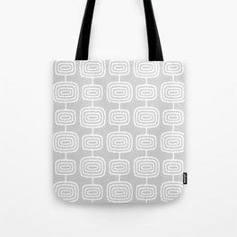 Mid Century Modern Atomic Rings Pattern 731 Gray Tote Bag