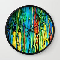 anxiety Wall Clocks featuring Anxiety by Yolanda's Prints