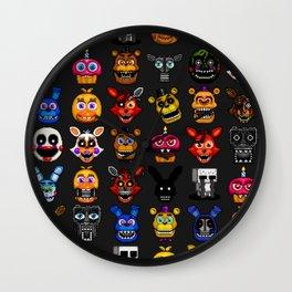 FNAF pixel art Wall Clock