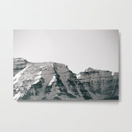 Black and White Wasatch Mountains Metal Print