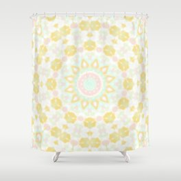 Pastel mandala 2 Shower Curtain