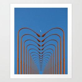 of light poles V Art Print