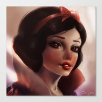 snow white Canvas Prints featuring Snow white by ChrySsV