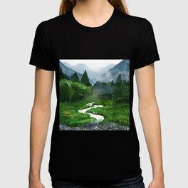 Forest River Illustration  T-shirt
