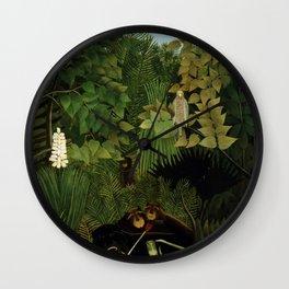 """Henri Rousseau """"Merry jesters"""", 1910 Wall Clock"""
