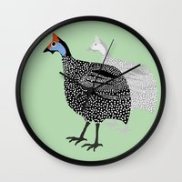 aelwen Wall Clocks featuring Clifford and his shadow by Aelwen