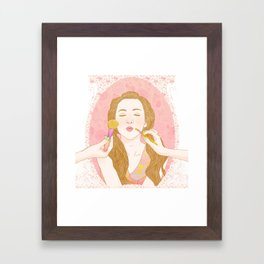 Lips Like Sugar Framed Art Print