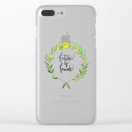 Future is female Clear iPhone Case