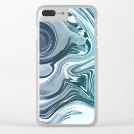 Blue violet splash Clear iPhone Case