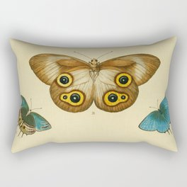 Naturalist Butterflies Rectangular Pillow