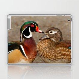 A Touching Moment Between Wood Duck Lovebirds Laptop & iPad Skin
