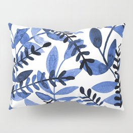 Watercolor branches - blue Pillow Sham