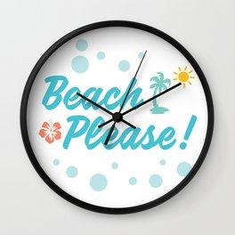 Beach Please! Wall Clock