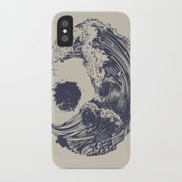 waves iPhone & iPod Cases featuring Swell by Huebucket