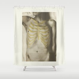 Vintage Anatomical Photo, 1908   Male Shower Curtain
