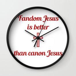 Fandom Jesus Wall Clock