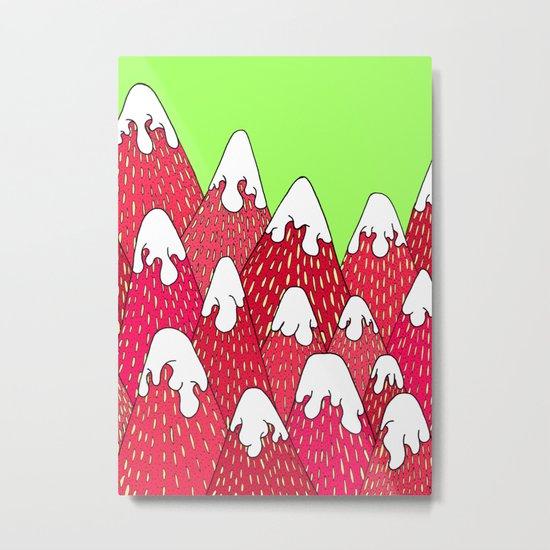Strawberry Mountains Metal Print