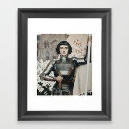 JOAN OF ARC - A.LYNCH  Framed Art Print