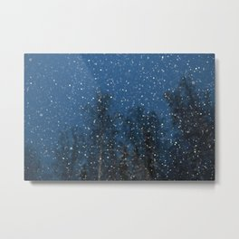 Falling Snow 3 Metal Print