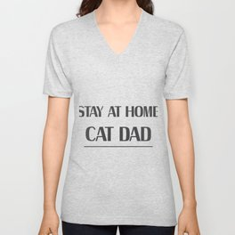 Dad Love Cat Fathers Day Cat Lover Pet Love Gifts Unisex V-Neck