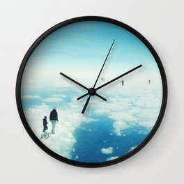 Heaven's already here above the clouds Wall Clock