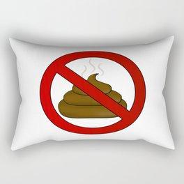 no dog poop sign illustration Rectangular Pillow