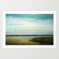 poem Art Prints featuring Summer Poem by Armine Nersisian