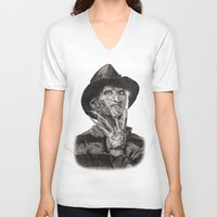 freddy krueger V-neck T-shirts featuring freddy krueger by calibos