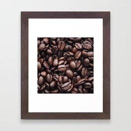 Coffee beans pattern Framed Art Print