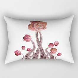 Floral Octopus Tentacles with Roses Rectangular Pillow