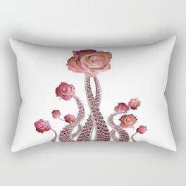 Floral Octopus Tentacles with Roses Rectangular Pillow