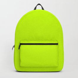 Fluorescent Yellow - solid color Backpack
