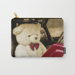 TEDDY GOES FOR A DRIVE Carry-All Pouch