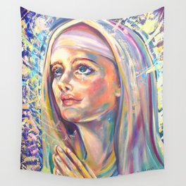 Saint Claire of Assisi, potrait Wall Tapestry