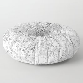 Luxembourg Map Line Floor Pillow