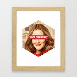 Santa Clarita diet Framed Art Print