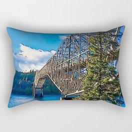 Bridge of the Gods Rectangular Pillow