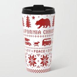 California Christmas Pattern Travel Mug