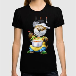 A sea otter cooking T-shirt