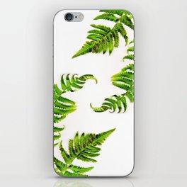 Fern on white - double iPhone Skin
