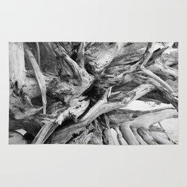 Black and White Driftwood Rug