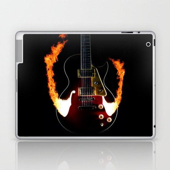 Burning Rock Guitar Laptop & iPad Skin