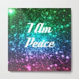 Peace Affirmation Galaxy Sparkle Stars Metal Print