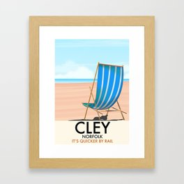 Cley Norfolk vintage travel poster. Framed Art Print